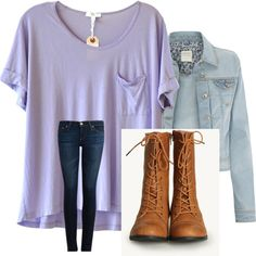 Combat Boots Outfit, created by cglin on Polyvore