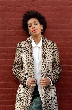 Solange Knowles in leopard
