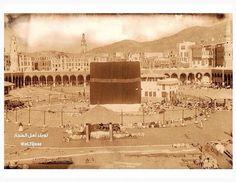 Kabbah as seen in Islamic Images, Islamic Pictures, Old Pictures, Old Photos, Islamic Art, Mecca Hotel, Mecca Kaaba, History Of Pakistan, Masjid Al Haram