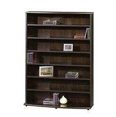 Multimedia Storage Tower DVD CD Media Games Organizer Rack Cabinet Shelf Stand #MultimediaTower #Contemporary