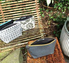 Cosmetic Bag Handmade Grey Weave Design Basket Weave Grey Organizer Makeup Bag…