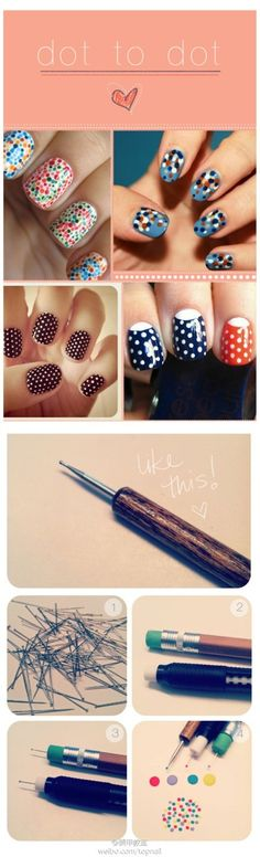 Polka Dot Nail (works great). Totally gotta try! :D