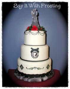 Pensacola Wedding Cakes Black White Cameo Cake