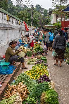 Morning Market in Luang Prabang, Laos