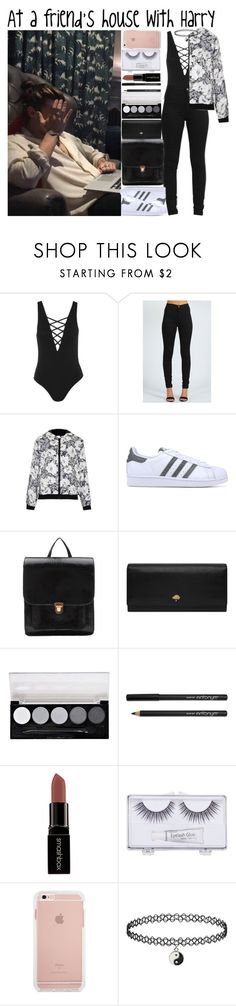 """""""At a friend's house with Harry"""" by heaven-139 ❤ liked on Polyvore featuring Topshop, Boohoo, adidas Originals, Hstyle, Mulberry, L.A. Colors, Smashbox and Sonia Kashuk"""