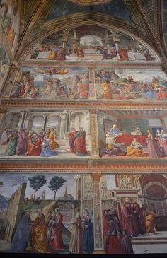 Cappella Tournabuoni, Santa Maria Novella, frescoes by Domenico Ghirlandaio, 1485-90  (3) by Prof. Mortel, via Flickr