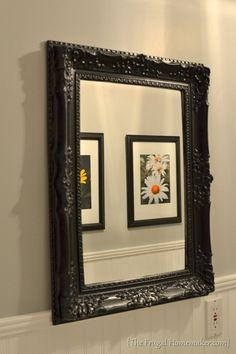 spray painted mirror frame