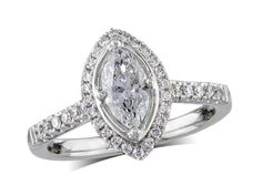 Platinum set diamond cluster engagement ring, with a certificated marquise cut centre in a four claw setting, with a surrounding diamond set bezel and diamond set shoulders. Perfect fit with a wedding ring. Diamond Cluster Engagement Ring, Antique Engagement Rings, Diamond Rings, Diamond Jewelry, Jewellery Uk, Marquise Cut, Perfect Fit, Centre, Wedding Rings