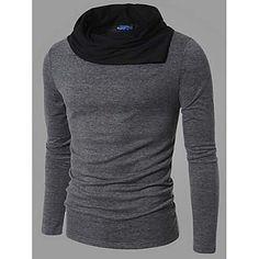 YESFLY+Men's+Long+Sleeve+Slim+Fashion+High+Neck+Causual+Knitwears+–+USD+$+17.99