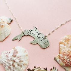 Handmade Whale Shark Necklace | Rhincodon Typus | Repurposed Aluminum on Etsy