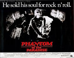 """phantom of the paradise (d. brian de palma) My fave movie ad. I recall thinking, """"I have GOT to see how this guy the that look."""" Well, I found out! Phantom Of The Paradise, Phantom Of The Opera, Passion 2012, Carlito's Way, Lon Chaney, Dancing In The Dark, Movie Poster Art, Classic Films, Movies Showing"""