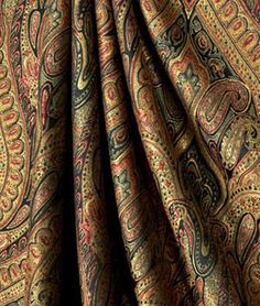 Beautiful Paisley Curtains to Pop your Room by CharmantPoint
