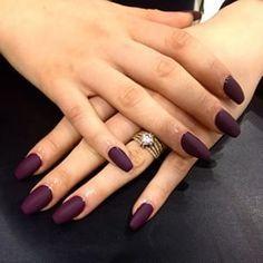 acrylic nail designs plum - Google Search