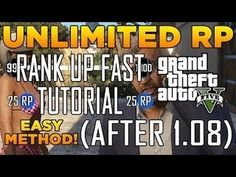 cae422da973 GTA 5 Online  UNLIMITED RP GLITCH AFTER PATCH 1.08 - GTA 5 Multiplayer  Glitches RANK UP TUTORIAL