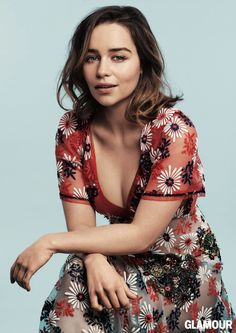 Beauty Mags: Emilia Clarke | Glamour US May 2016