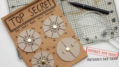 Looking for a unique way to wish dad a happy Father's Day? Make him a super secret spy code card. Children practice their math, spelling, and writing to create a coded message for dad to decipher.