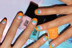 Easter Nail Art: Use 3 Colors For The Cutest Manicure - http://www.interiorredesignseminar.com/other-ideas/easter-nail-art-use-3-colors-for-the-cutest-manicure/