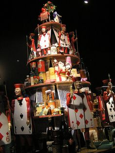 """""""Alice in Wonderland"""" Christmas windows at Fortnum and Mason, Piccadilly, London, 2006"""