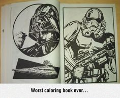 Worst Coloring book ever...