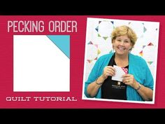 """Make a """"Pecking Order"""" Quilt with Jenny! - YouTube"""