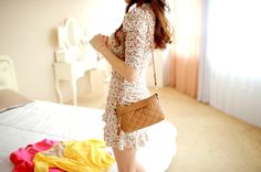 #Ulzzang #fashion mini dress #kfashion