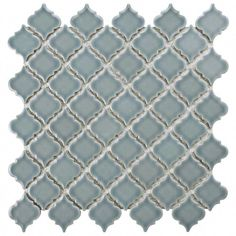 Merola Tile Hudson Tangier Slate in. x 5 mm Porcelain Mosaic Tile, Slate / High Sheen Mosaic Tiles, Wall Tiles, Mosaics, Lantern Designs, Slate Flooring, Tile Projects, House Tiles, Mosaic Patterns, Kitchens