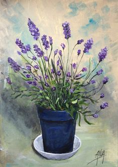 Lavender original acrylic painting