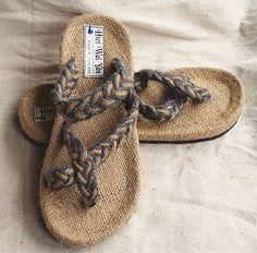 National trend handmade hemp shoes hand-woven straw sandals male 33 blue $17.88