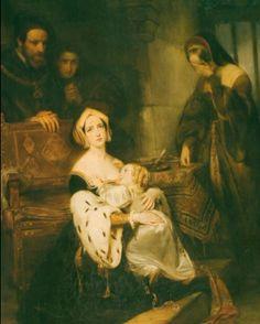 Ana Bolena despidiéndose de su hija Isabel...tenía 2 1/2 añitos...