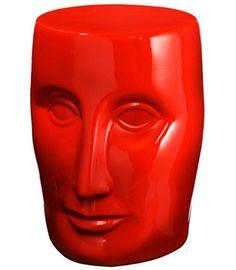 Red Bonze Stool Philippe Starck