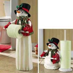 While on the topic of Christmas decorations, do not banish your bathroom to a cheerless corner. Decorate your bathroom with these Christmas bathroom décor ideas. Christmas 2014, Christmas Snowman, All Things Christmas, Christmas Ornaments, Christmas Projects, Holiday Crafts, Holiday Ideas, Christmas Ideas, Christmas Bathroom Decor