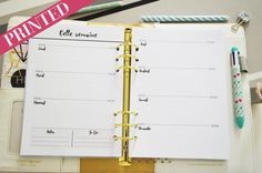 PRINTED A5 / Personal weekly planner insert  A5 / Personal Printable Weekly Planners Undated   You can use this insert in your A5 or Personal