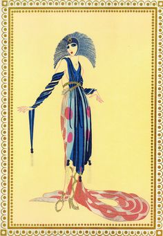 "DE PRETENDER ""Vamps collectie"" chique originele Vintage ERTE Art Deco Print…"