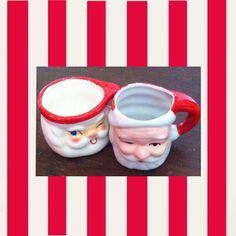 Vintage Holt and Howard Winking Santa Mug/Candle by Redcurlzs