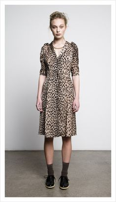 carrie dress (leopard print), juliette hogan
