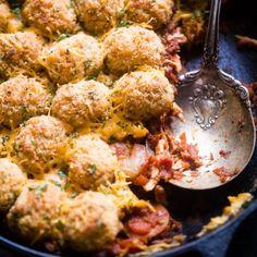 Cajun Cauliflower Tot Casserole