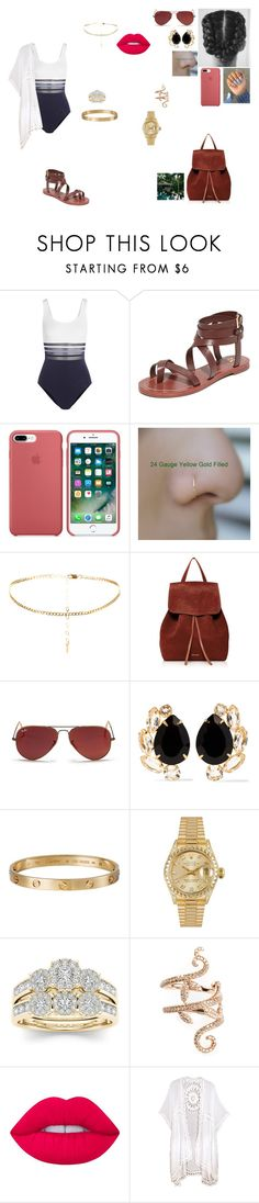 """""""On the night, Sally doing a swmiing pool party in Mexico."""" by princesscece6 ❤ liked on Polyvore featuring La Perla, Tory Burch, Mansur Gavriel, Ray-Ban, Bounkit, Cartier, Rolex, Modern Bride, Elise Dray and Lime Crime"""
