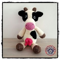 Crochet cow www.facebok.com/zwooczki