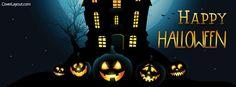 Happy Halloween Pumpkin Faces Facebook Cover coverlayout.com