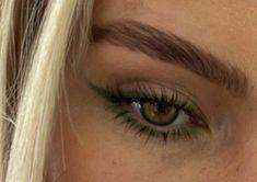 Cute Makeup Looks, Makeup Eye Looks, Eye Makeup Art, No Eyeliner Makeup, Kiss Makeup, Pretty Makeup, Beauty Makeup, Hair Makeup, Green Eyeliner