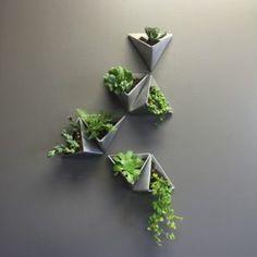 Tesselation / / moderne Wand-Pflanzer / / Satz Tesselation // Modern Wall Planter // Set of 3 Plant Wall, Plant Decor, Vertical Wall Planters, Vertical Gardens, Wall Mounted Planters Indoor, Vertical Green Wall, Garden Design, House Design, Wall Design
