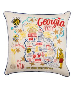 This 'Georgia' Illustrative Throw Pillow by Primitives by Kathy is perfect! #zulilyfinds