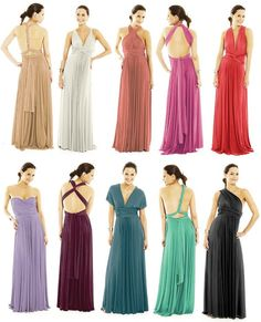 would something like this be an option?  same color but we would wear them differently.     Infinity Dress Bridesmaids Dresses Wrap Dresses by VanelDesign, $89.00