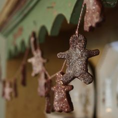gingerbread-ornaments. Also, check out http://www.homemademamas.net/2009/12/cinnamon-dough-for-homemade-ornaments.html