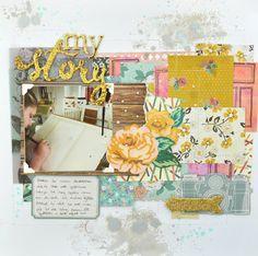 Life of Julia: My Story 12x12 scrapbook layout