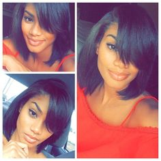 Magnificent Bob Haircuts For African American Women Hair Pinterest Hairstyles For Women Draintrainus