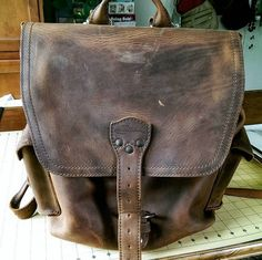 Medium Front Pocket Backpack in Tobacco Saddleback Leather YouTube ...