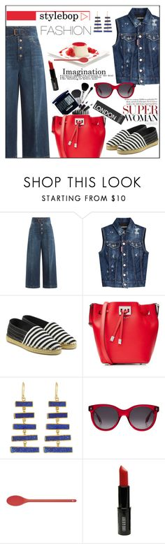"""""""Stylebop - Fashion"""" by biange ❤ liked on Polyvore featuring RED Valentino, Dsquared2, Marc Jacobs, Michael Kors, Pippa Small, Alexander McQueen, Kitchen Craft Colourworks and Lord & Berry"""