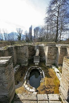 *AT THE FOOT OF MOUNT OLYMPUS, GREECE ~ Dion is a municipality + village in the Prefecture of Pieria, Macedonia, Greece, best known for its museum + archaeological site. The Ancient city of Dion was a place of some importance, due to its location at the foot of Mt. Olympus. Archaeological findings show that this was where Zeus was honored...
