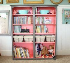 colorful bookshelf diy